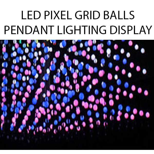 3D RGB LED Pixel Vertical Pendant Balls 360 degree