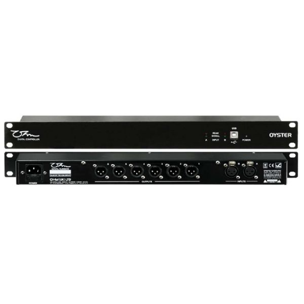 OHM - OYSTER Digital 2 in 6 out Installation Controller. Spyder Software Downloadable