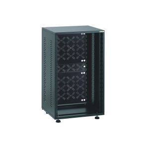 EU-R-8LP Black 8U 19 Inch Rack with Back Panel