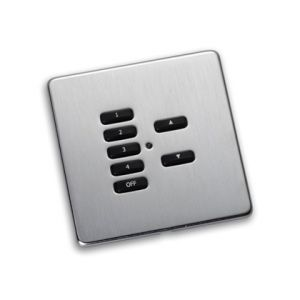 RLF-xxx-SS Satin Steel Fascia Cover Plate for Rako Wireless Wallplates - with Hidden Screws