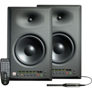 LAST PAIR JBL LSR4328P-PAK - Pair of LSR-4328P Nearfield Monitors with LSR4300 Mic Accessory Kit and Remote
