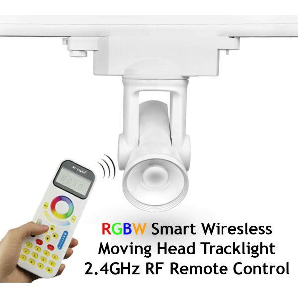 Smart Motorised RGBW LED Tracklight 2.4GHz