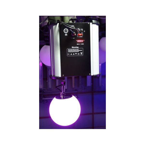 RGB LED DMX Kinetic Ball Pendant 20cm High Speed Motorised Winch and Colour Ball DMX512