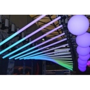 RGB LED DMX Kinetic Pixel Tube 1m Pendant with 2 Motorised Winchs 0-1.5m or 0-4m and Colour Tube 0.2m per sec DMX512 8CH