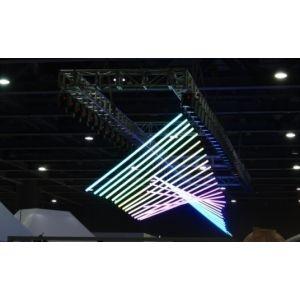 RGB LED DMX Kinetic Pixel Tube 2m Pendant with 2 Motorised Winchs 0-1.5m or 0-4m and Colour Tube 0.2m per sec DMX512 8CH
