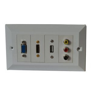 Custom HDMI RCA USB Audio Jack Input Wallplate Module