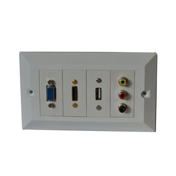 Custom HDMI RCA USB Audio Jack Input Wallplate Module