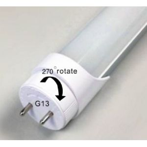 Dimmable 4FT 18W LED Tubes T8 or T10 192 x LED 3014 - Adjustable Lockable End Cap