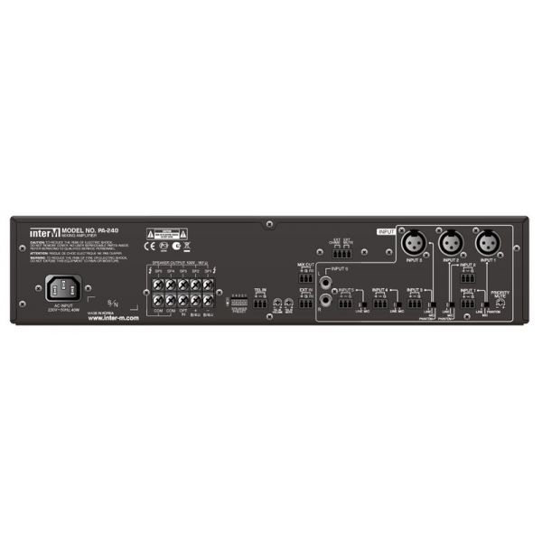 Inter-M - PA240 - 100V - 240W - 6 Input Amplifier