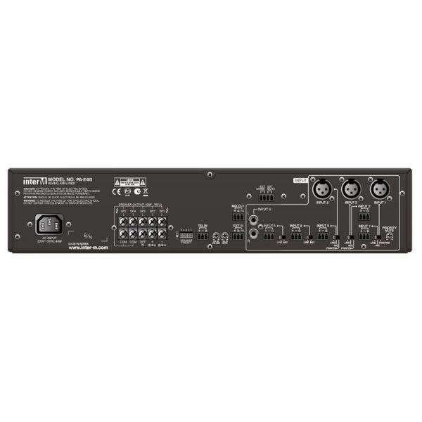 Inter-M - PA240 - 100V - 240W - 6 Input Amplifier