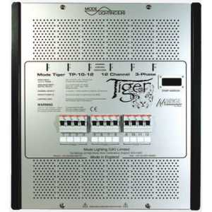 Mode TP-03-12-TE Tiger Dimmer Pack Trailing Edge Dimmable Power Unit (12 Channels of 3 Amps, Inductive 3 Amps)