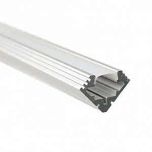 2.5m Aluminium LED Strip Angle Profile 45 Degree - Impact Resistent