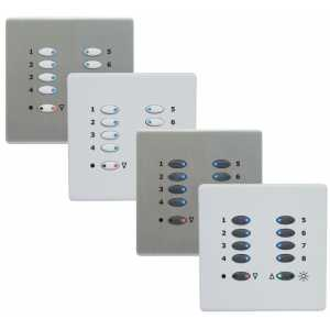 Mode ECO-MLP-55WH LCD Control Plate - White (10 White Buttons, Twin Gang, excluding Fascia Plate)