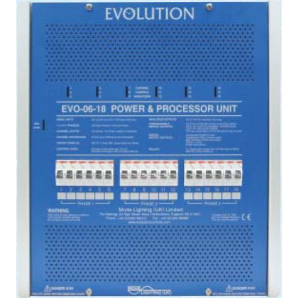 Mode EVO-06-18 Evolution Power & Processor Unit (18 Channels of 6 Amps, Inductive 6 Amps)