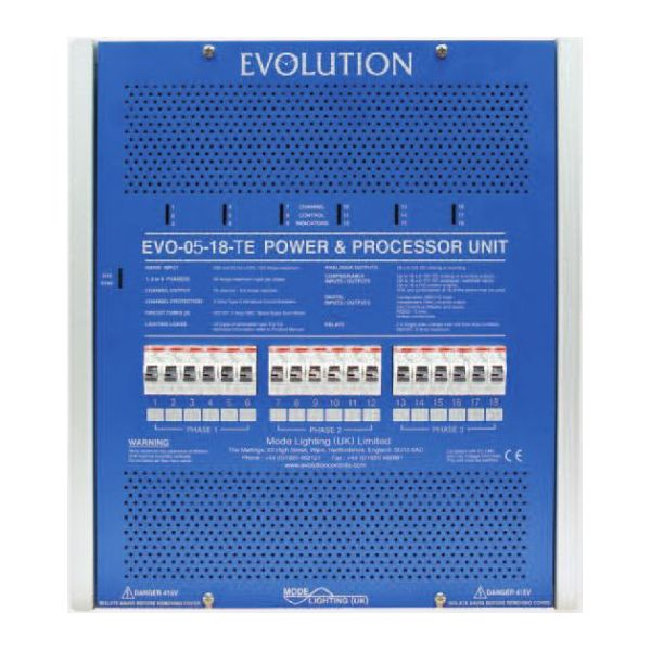 Mode EVO-05-09-TE Evolution Power & Processor Unit (9 Channels of 3 Amps, Trailing Edge)