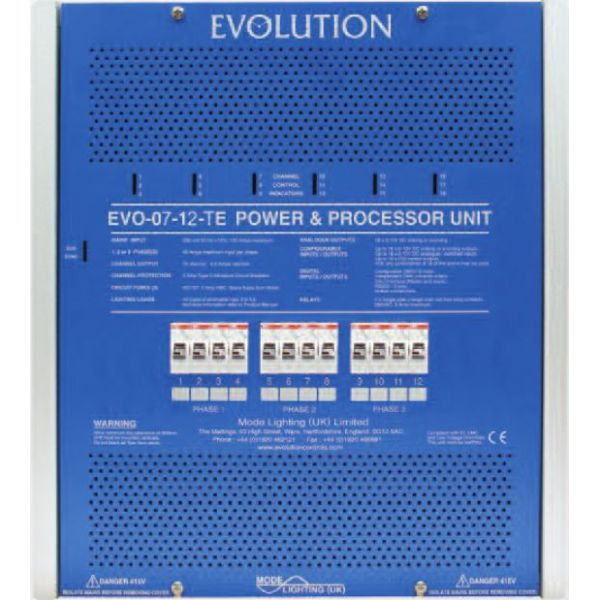 Mode EVO-07-12-TE Evolution Power & Processor Unit (12 Channels of 3 Amps, Trailing Edge)