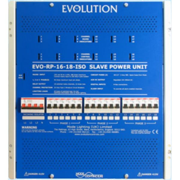 Mode EVS-RP-16-18 Evolution Slave Relay Pack (18 Channels of 16 Amps Switching Only)