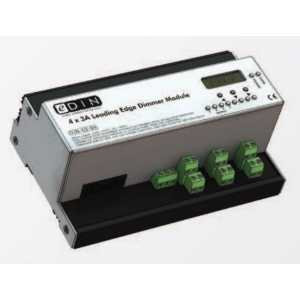 Mode DIN-03-04 eDIN 4x3A Dimmer (4 channels of 3 Amps - Maximum Module Load 10A)