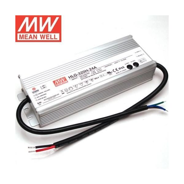 Meanwell HLG-320-24A 320W 24V Constant Voltage Power Supply with Vo and Io Attenuation