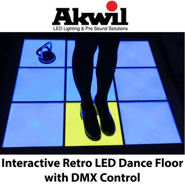 Single Pixel Interactive and DMX LED Dance Floor Modules