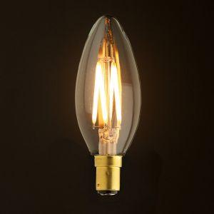 New AKC-4W B15 Akwil 4W Dimmable LED Candle Light Bulb 240V 3W 240lm Filament LED Bulb 330 Degree Clear