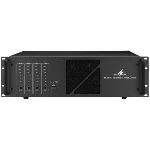 MONACOR PA-4240 4x 240W 100V Line Digital Quad Power Amplifier 960W 100V Total