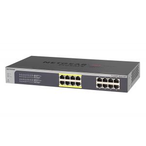 NETGEAR JGS516PE 16-Port Gigabit Rackmount PoE Smart Managed Plus Switcher
