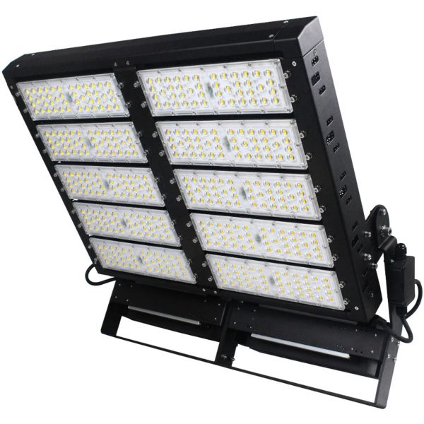 Dimmable 1000W LED Stadium Flood Light with Meanwell Drivers for high end sports flood lighting