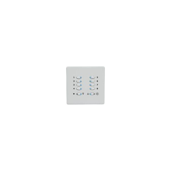 Mode TP-SGP-55-WHI Tiger Switch Plate (10 White Buttons, Single Gang, Excluding Fascia Plate)