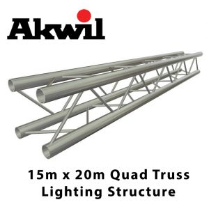 Trilite Optilite Quad Lighting Truss System 15m x 20m