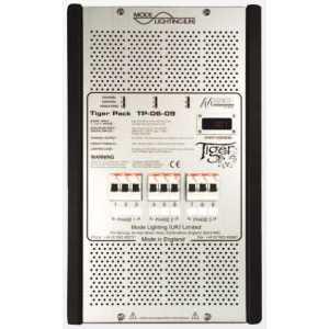 Mode TP-06-09-RCBO Tiger Dimmable Power Unit with Leading Edge Dimming RCBO's (9 Channels of 6 Amps, Inductive 6 Amps)