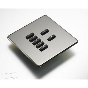 RLF-xxx-BN Black Nickel Fascia Cover Plate for Rako Wireless Wallplates - with Hidden Screws