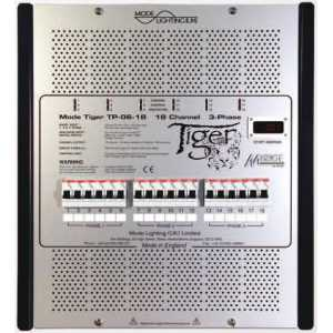 Mode TP-03-18-TE-RCBO Tiger Trailing Edge Dimmable Power Unit with RCBO's - 18 Channels of 3 Amps with Inductive 3 Amps