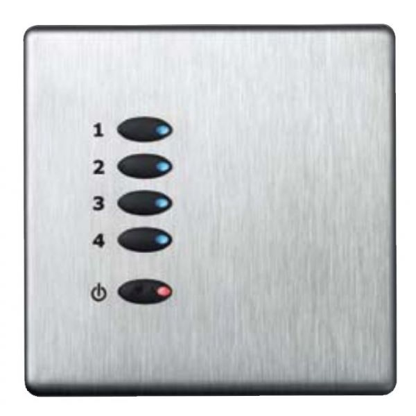 Mode Tiger Switch Cover Wall Plate Fascia TP-S-BSS-** (Single Gang, MK Aspect Brushed Stainless)