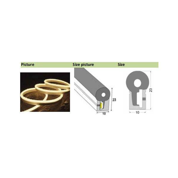 Akwil RGB LED NEON FLEX GRADE A 60x SMD 5050 per m IP66 24V DC 12W Cost per meter