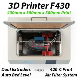 CreatBot F430 3D Printer 420°C Dual Extruders 300x300x400mm Build Size ABS PLA PC Nylon Carbon PETG